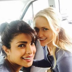 """Priyanka heads off to work with co-star Johanna Braddy. Priyanka Chopra is busy shooting for her upcoming American TV show 'Quantico'. The pretty actress posted a photograph with her co-star Johanna Braddy on her Instagram page. She captioned it as, """"On our way to set!! #Quantico madness continues@thejohannabraddy."""""""