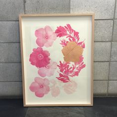 Framed Art | Limited Edition Floral Pink & Copper Print | Bonnie & Neil