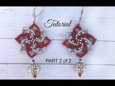 How to make seed bead earrings - twist stitch tutorial (PART 2) - YouTube
