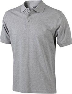 Herren Classic Piqué Polohemd aus 100% gekämmter, ringgesponnener Baumwolle in den Größen S-3XL Farbe Grey Heather Größe XL