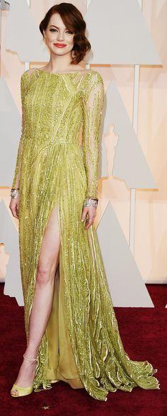 Emma Stone's Oscars 2015 Dress | POPSUGAR Fashion