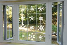 Christmas Snowflakes wall window mirror decal sticker by MdTshirts