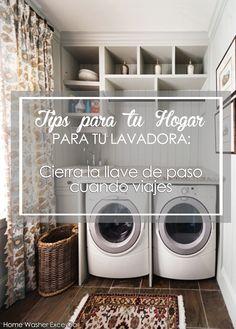 """TIPS PARA TU HOGAR """" Para tu lavadora """" Si vas a salir por un tiempo prolongado, como un viaje, o no vas a utilizar la lavadora por un largo periodo, recuerda cerrar la llave de paso de agua para evitar filtraciones de agua.  http://reparacionlavadoras.info/  - Home Washer -"""