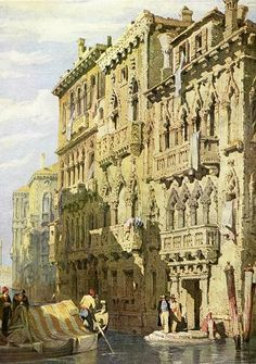 Palazzo Contarini Fasan on the Grand Canal, Venice by Samuel Prout