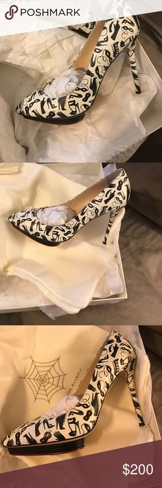 Charlotte Olympia designer heels High end fashionable shoe. Gently used. Wore 2 times. Charlotte Olympia Shoes Heels #charlotteolympiaheelsfashion