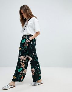 Only Wide Leg Floral PANTS