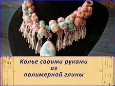 Crear un collar espectacular, con colgantes de metal y arcilla polimérica - Masters - Feria artesanal, hecho a mano