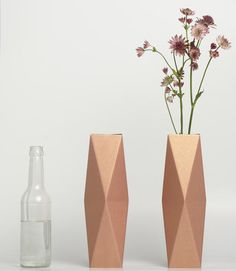 Turn Old Bottles into Vases with the snug.vase by snug.studio Photo