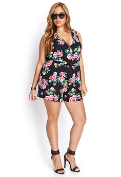 Clustered Rose Romper Plus Size Style Inspiration Apparel Clothing Design #UNIQUE_WOMENS_FASHION