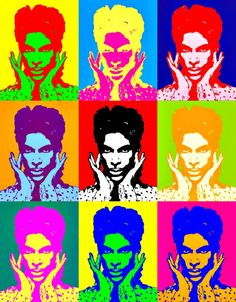 Prince Pop Art - it's ALWAYS an appropriate time for Prince.