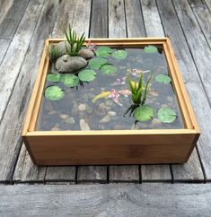 Decorative Rocks Ideas : Miniature Koi Pond Waterscape in BambooYou can find Koi ponds and more on our website.Decorative Rocks Ideas : Miniature Koi Pond Waterscape in Bamboo Container Pond, Container Water Gardens, Small Water Gardens, Indoor Water Garden, Indoor Pond, Patio Pond, Backyard Landscaping, Landscaping Ideas, Garden Ideas Inside The House