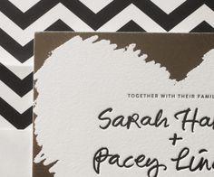 Letterpress Wedding Invitations | Urbanic Design | Bella Figura Letterpress