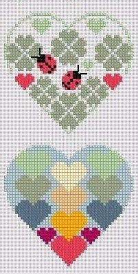 Embroidery Stitches Heart Simple Ideas For 2019 Cross Stitch Heart, Simple Cross Stitch, Modern Cross Stitch, Cross Stitch Designs, Cross Stitch Patterns, Embroidery Hearts, Cross Stitch Embroidery, Embroidery Patterns, Hand Embroidery