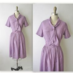 60's Shirtwaist Dress // Vintage 1950's by TheVintageStudio, $58.00