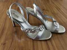dd9f6cf255ff NIB Michael Kors Women s Tricia Dress Sandals Silver Leather Size 9M MSRP   140  fashion  clothing  shoes  accessories  womensshoes  sandals (ebay  link)