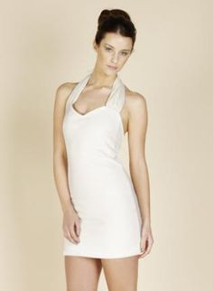 April Ivory,  Dress, jersey halterneck, Chic