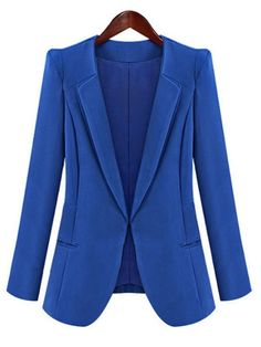 Exquisite Lapel Blended Pure Blazer Blazers from fashionmia.com