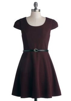 Sugar Plum Flair Dress. An admirer of simple silhouettes and understated style, you couldnt be happier to have found this deep purple dress! #purple #modcloth  Size 11 (fits small), some wear.