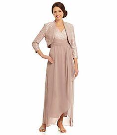 Jessica Howard Cascade Ruffle Jacket Dress | Dillard's Mobile