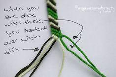 Nucs simples friend ship bracelets