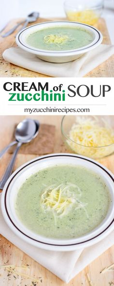 Easy, quick and healthy creamy zucchini soup cooked with just five ingredients…