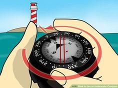 Image titled Use an Underwater Compass Step 2 http://www.deepbluediving.org/split-fins-vs-regular-fins/