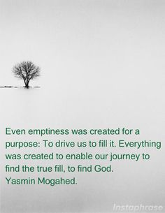 """Emptiness - Yasmin Mogahed ● Allah is the ultimate """"soul mate"""" ♥"""