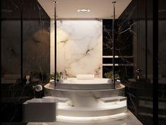 Marmor Wandfliesen Für Das Wohnzimmer Luxuriöses Badezimmer, Badewanne,  Wohnzimmer, Badezimmer Schwarz, Dekoration