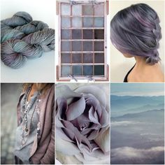 TFA PureWash Worsted in Plum Pudding, painter's palette, hair, outfit, flower, landscape.
