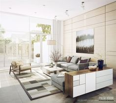 Bright Modern Living Rooms tela dl sillon