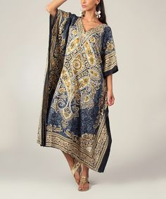 Look what I found on #zulily! Gray Paisley Caftan by Kushi by Jasko #zulilyfinds