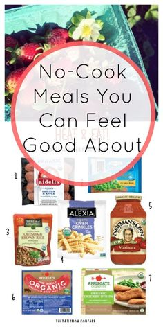 """""""Heat & Eat"""" meal ideas for nights when cooking just isn't an option. Healthy Eating Tips, Healthy Dishes, Healthy Breads, Healthy Habits, Healthy Choices, Real Food Recipes, Snack Recipes, Yummy Food, Healthy Recipes"""