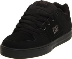 DC Mens Pure Skate Shoe,Black/Pirate Black,12 M US