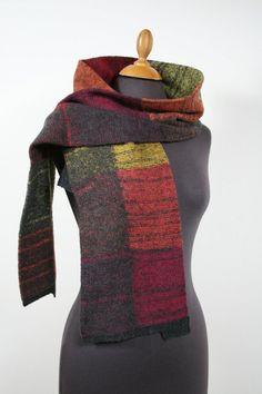 Knit scarf for men, winter scarf from wool, fur, wool scarf, men& scarf - Herren Accessoires Wool Scarf Mens, Knitting Accessories, Fur, Unisex, Knitting Scarves, Lady, Blog, Fashion, Moda