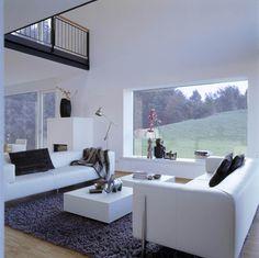 Einrichtungsideen Wohnzimmer Haus Eisner_Baufritz   Modern Wohnen Grau Weiß  Wohnzimmer Galerie   Grundriss Inspiration Ideen Auf