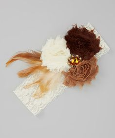 Look at this #zulilyfind! Brown Autumn Owl Feather Headband by Enchanted Fairyware Couture #zulilyfinds