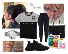 """""""Untitled #103"""" by xgoldenrose ❤ liked on Polyvore featuring NIKE, Michael Kors, EWA, Carmex and L'Oréal Paris"""