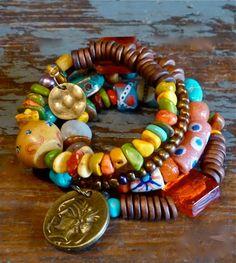 Boho Bracelet  Handmade Bracelet   Multi by TheJoyMoosCollection, $72.00