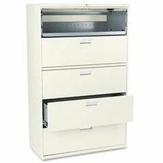 * 600 Series Five-Drawer Lateral File, 42w x19-1/4d, Putty by MotivationUSA. $1292.86. * Counterweight included, where applicable, to meet ANSI/BIFMA stability requirements. Lock secures both sides of drawer and heavy-duty, three-part, telescoping, steel ball bearing suspension offers smooth drawer operation. Mechanical interlock allows only one drawer to be open at a time to inhibit tipping. Four adjustable leveling glides help compensate for uneven flooring. Dr...
