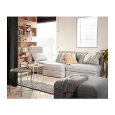 VALLENTUNA Divano a 3 posti - Orrsta grigio chiaro/Funnarp nero/beige - IKEA