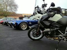 Parking with the snakes... Shelby Cobra and BMW