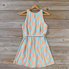 Mint... check. Chevron... check. Soon to be mine? Check. ~ Peaches & Clover Chevron Dress