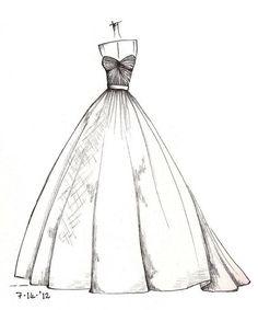 Dress pencil drawing!