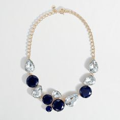 J. Crew Factory stone cluster necklace, $49.50. (Suggested item to recreate this working mom outfit idea: http://www.franticbutfabulous.com/2013/04/10/personal-style-in-action-ideal-date-night-outfit/?utm_medium=social_media_campaign=FBFsocial)