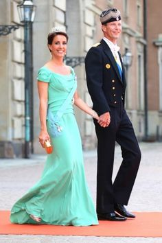 As did Princess Marie of Denmark. Dress from Alberta Ferretti.