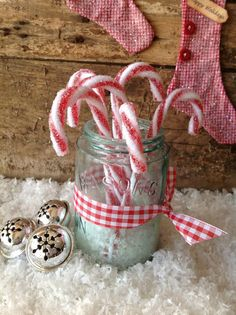 Candy cane Christmas ornament!!! Bebe'!!! Love these frosty candy canes!!!