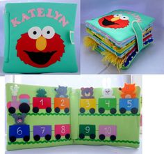 Busy book, eco-friendly quiet book, felt book, activity book for children  12 m…