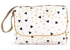 sac à langer London 'confettis noirs et miel' Tricot Baby, Little Ones, Drawstring Backpack, Diaper Bag, Backpacks, Handbags, Purses, Bb, Sewing