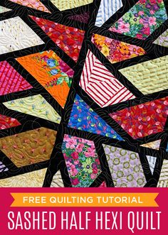 Make a Sashed Half Hexi Quilt with this Free Video Tutorial with Jenny Doan of MSQC!