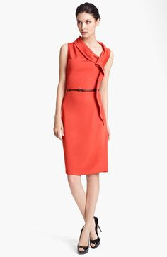 Max Mara Belted Side Drape Dress available at Nordstrom